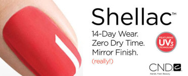 Shellac red nail polish image